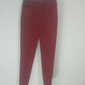 Gloria Vanderbilt jeans red stretch Amanda